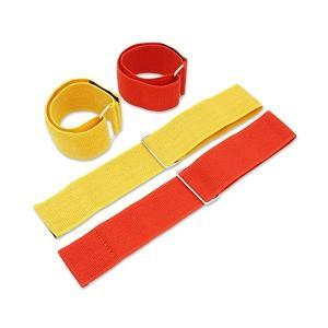 サバゲー ゲームマーカー マジックテープ式 5cm×50cm 赤2本 黄2本  ゲーム|mantenstore