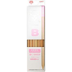 名入れ無料 ナノダイヤ鉛筆(かきかた) B ピンク 12本入 6907 書き方鉛筆|三菱鉛筆 4箱ま...