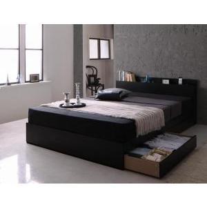 モダンライト·コンセント付き収納ベッド Pesante Pesante