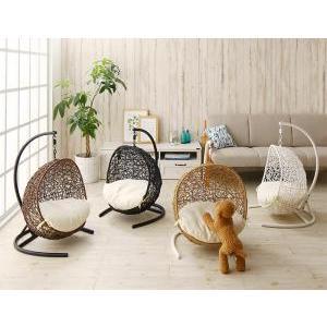 ペットにぴったり ミニチュアサイズのラタン調ハンギングチェアベッド Petmock ペットモック|manzoku-tonya