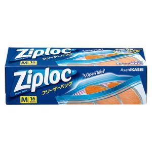 旭化成(308668)ジップロックフリーザーバッグM16枚入(生活用品・家電)(食器・台所用品)(保存袋)|manzoku-tonya