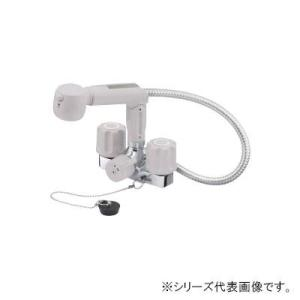 三栄 SANEI U-MIX ツーバルブスプレー混合栓(洗髪用) 寒冷地用 K3104KR-LH-13|manzoku-tonya|01