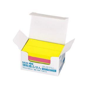強粘着ふせん〈K2〉 75×25 7色ミックス ネオン10冊 コクヨ K2メ-KN7525X10|manzoku-tonya