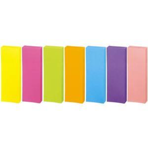 強粘着ふせん〈K2〉 75×25 7色ミックス ネオン10冊 コクヨ K2メ-KN7525X10|manzoku-tonya|02