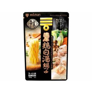 〆まで美味しい濃厚鶏白湯鍋つゆストレート750g ミツカン