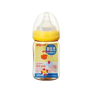 母乳実感 哺乳びん プラスチック 160ml アニマル柄 ピジョン