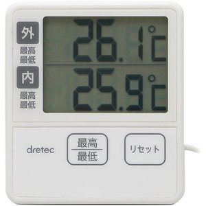 ドリテック 室内・室外温度計 アイボリー O-285IV 1コ入 の商品画像 ナビ