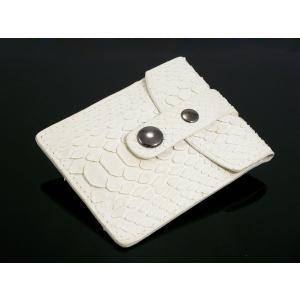 パイソン 携帯灰皿 A2290113 ヘビ革 ホワイト ホワイト|manzoku-tonya