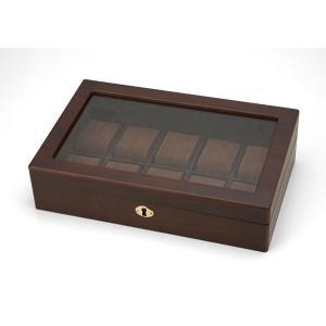 木製ウォッチケース WOODEN WATCH CASE (10本用) 856-121|manzoku-tonya