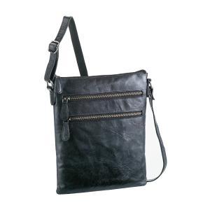 ハミルトン HAMILTON 牛革 ショルダーバッグ メンズ 16395 ブラック ブラック|manzoku-tonya