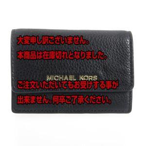 マイケルコース MICHAEL KORS レディース カードケース 32F5GDDD5T001 ブラック ブラック|manzoku-tonya
