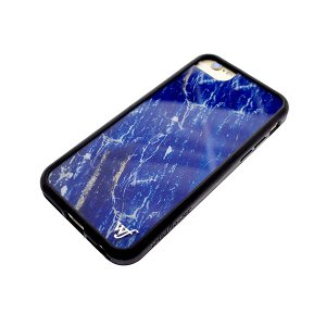 ワイルドフラワー WILDFLOWER スマホケース iPhone6/6S/7/8対応 CASE  レディース LAPI20678 BLUE MARBLE ブルー ブルーマーブル manzoku-tonya