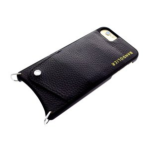 BANDOLIER バンドリヤー スマホケース iPhone6/6S/7/8対応 CASE  レディース 10LCY1001-BLKSIL ルーシー LUCY シルバー ブラック ブラックシルバー manzoku-tonya