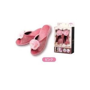 スリッパ ヒールアップ美脚スリッパ ピンク Lサイズ|maone