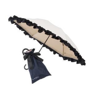 日傘 折りたたみ 晴雨兼用 レディース おしゃれ 夏 おリボンUVカット涼感折りたたみ日傘 オフホワイト|maone