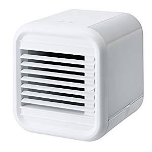 冷風扇 卓上 小型 デスクファン 扇風機 おしゃれ ボックス型 デスクトップ冷風扇 ホワイト|maone