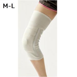 膝サポーター 歩行 補助 履くだけお膝しっかりサポーター 1枚 シロ M-L|maone