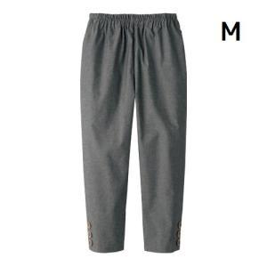 ボトムス レディース 夏さらさら 綿100%涼やかダンガリー7分丈パンツ ブラック M|maone