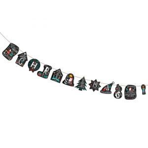 ガーランド クリスマス 飾り トランスメートル ガーランドセット ビタークリスマス|maone