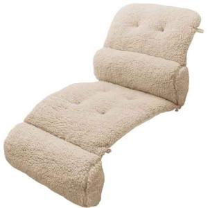 クッション ソファに温 毛布クッション ベージュ ソファークッション あったか|maone