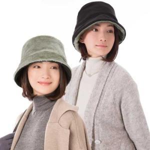 帽子 あったかリバーシブル帽子 ブラック×グレー リバーシブル|maone