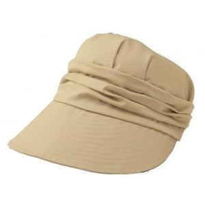 キャスケット 日よけつば広キャスケット ベージュ 帽子 UV レディース|maone