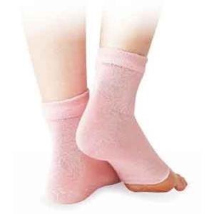 DM便 送料無料 シルク混おやすみかかとカバー ピンク かかと|maone