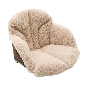 毛布 椅子用クッション 腰を包む座れる毛布 ベージュ|maone