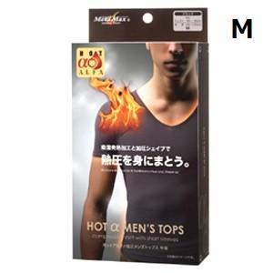 インナー メンズ ホットアルファ加圧メンズトップス半袖 ブラック M 加圧シャツ 半袖|maone