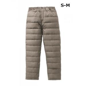 防寒 ふわふわダウン あったかパンツ ライトブラウン S-M ダウン パンツ|maone