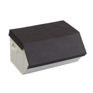 収納ケース たためるスタッキングボックス ブラウン 衣類収納|maone