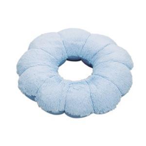クッション ふわもちリングクッション ブルー 昼寝 枕|maone