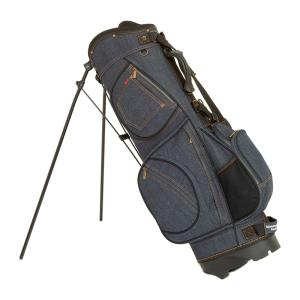 19ゴルフ デニム キャディバッグ スタンドバッグ インディ...
