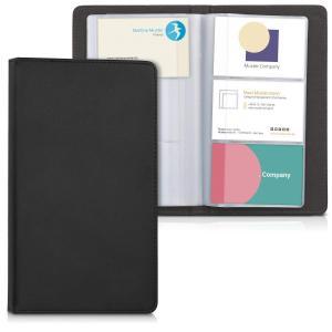 kwmobile 名刺ホルダー 名刺ケース ファイル 名刺用 - フェイクレザー カード用 ケース - 名刺ファイル カード整理 黒色|mapletreehouse