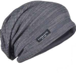 FORBUSITEニット帽 ビーニー ニットキャップ ワッチ 薄手 サマーニット オールシーズン 男女兼用 ボーダー B18h (グレー)|mapletreehouse