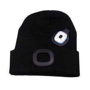 ニット帽 ニットキャップ LEDライト付き 帽子とヘッドライトが一体化 自転車 ランニング 登山 夜間の作業 フリーサイズ 防寒 冬 メンズ|mapletreehouse