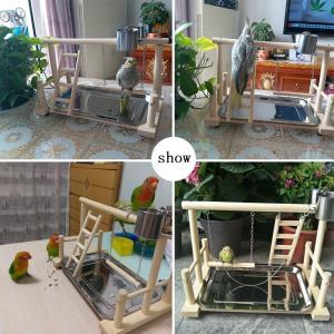 KAMA BRIDAL鳥スタンド 止まり木 ケージスタンド 原木 タワー カゴ インコ オウム 遊園地 ブランコ 水台 餌台 はしご 鳥の巣