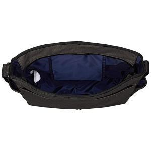 リー ショルダーバッグ 軽量 撥水加工厚手コットンキャンバス フラップ型 ブラック