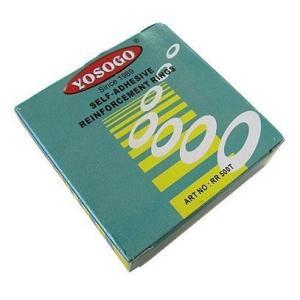 ファイル穴・パンチ穴補強シール 透明 1箱500片6箱パック