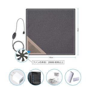 座布団 チェアクッション 冷感 冷却 クールクッション?USB給電●水循環冷却オフィス/屋内/車/ア...