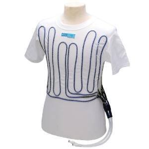 クールスーツ ホワイトコットン半袖TクーリングシャツL