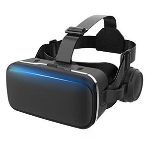 令和2年VRゴーグル VRヘッドセット VRヘッドマウントディスプレイ 高音質ヘッドホン付き ピント調節可 4.7?6.5インチスマホ対応|mapletreehouse