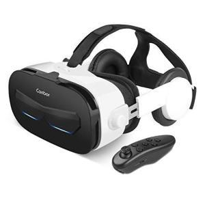 Canbor VRゴーグル スマホ用 VRヘッドセット iPhone android ヘッドホン付き 3D VRグラス メガネ 動画 ゲーム|mapletreehouse