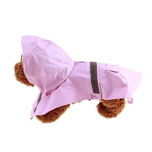 QiCheng&LYSペット犬のレインコート、調節可能な防水反射雨のジャケットポンチョ、犬の猫のためのスタイリッシュなレジャージャケットパーカーのジャ|mapletreehouse