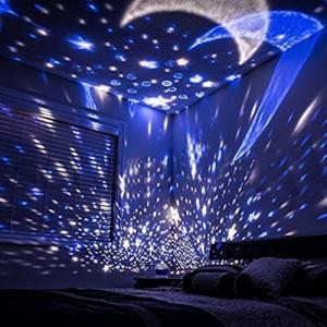 投影ランタン スポット星空ライト スタープロジェクター USB給電 回転 多色変更 室内用 プレゼントナイトライト、360度回転スタースカイプロジェク|mapletreehouse