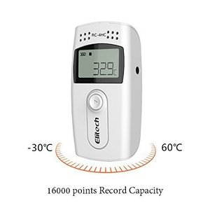 RC-4HC 16000pointsミニ温湿度データロガー 簡単に温度を記録し、解析できるデータロガ...