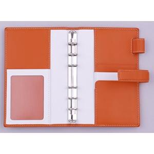 フランクリン・プランナー ラフィアーノ・バインダー ポケットサイズ 15mmリング (オレンジ)|mapletreehouse
