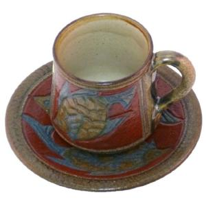 サイズ:(マグカップ)約7.8×7.8×9.2cm、(ソーサー)約16.2×16.2×3.1cm 本...