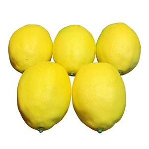 [SENYON] 食品サンプル レモン 果物 ディスプレイ 模型 フルーツ (イエロー、 10個) mapletreehouse