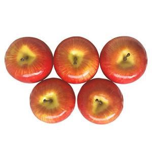 SENYON 食品サンプル リンゴ 果物 フルーツ ディスプレイ 模型 (5個、 赤) mapletreehouse